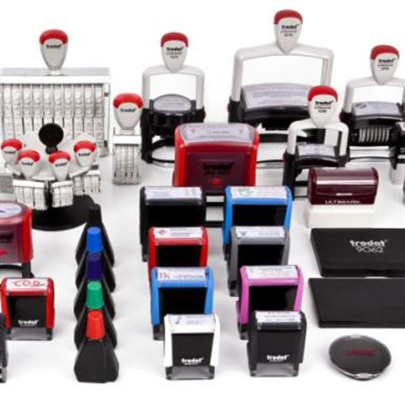 We offer every kind of rubber stamp and supplies at DAOSbiz.