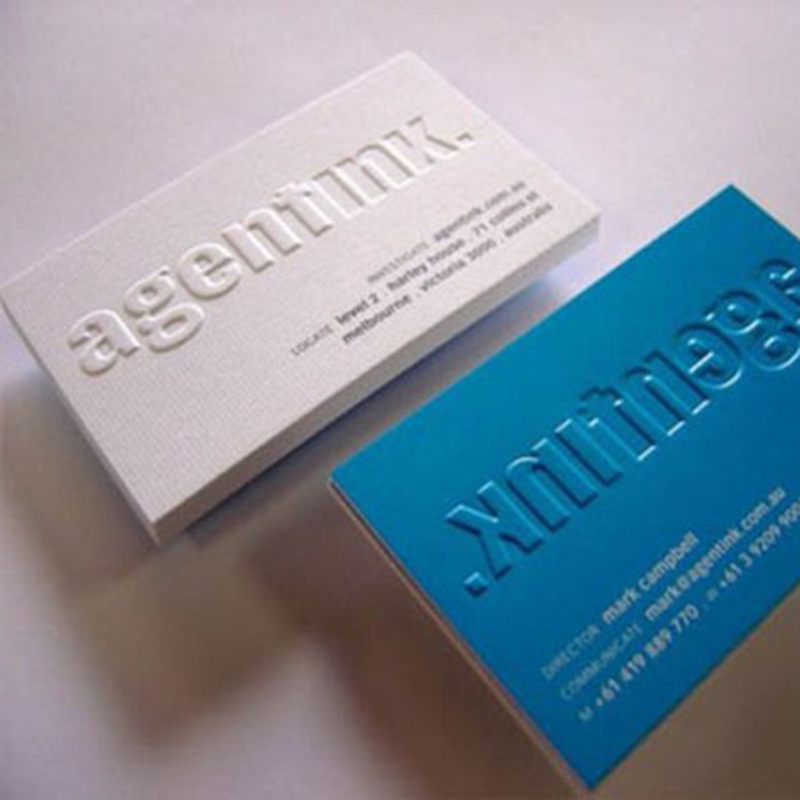 Embossed and Debossed Business Cards from DAOSbiz