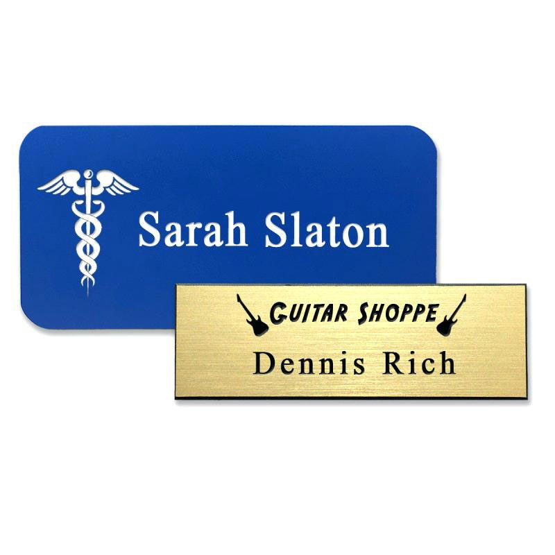 Engraved Plastic Name Badges from DAOSbiz